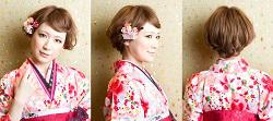 卒業式の袴に合う髪型2016★ショートヘアを華やかに演出!おすすめサンプル画像集