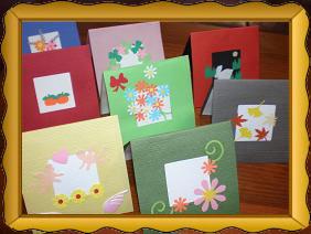 祝いの手作りメッセージカード ...