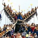 御柱祭の勇壮な木落としとは!?木遣りの鳴り響く日本三大奇祭の歴史と見どころ