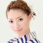 浴衣に似合う髪型★簡単!ショートヘアの編み込み編