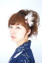 浴衣に似合う髪型★簡単!ミディアムヘアの編み込み編