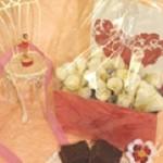 本命の彼へのバレンタインラッピング★まるで花束!?ブラウニーの可愛い包み方