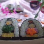 ひな祭りパーティーに!お雛様のデコ巻き寿司レシピ