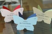 手作り結婚式★蝶々の形の席札立ての作り方