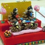 ひな祭りのお雛様を折り紙と松ぼっくりで簡単に手作りしよう!