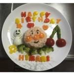 1歳のお誕生日会に!アンパンマン離乳食お誕生日プレートの作り方