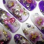 【成人式ネイルデザイン】紫の振袖に似合うデザイン7選!