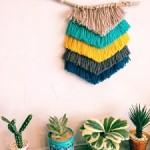 いくつでも作りたくなる!100均の毛糸でできるウィービングタペストリーのデザイン集&作り方まとめ
